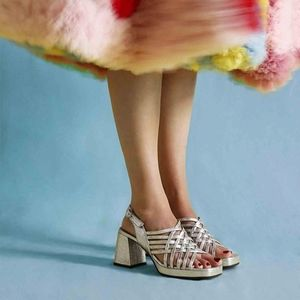 NEW Chie Miyara Geya Silver Sandals
